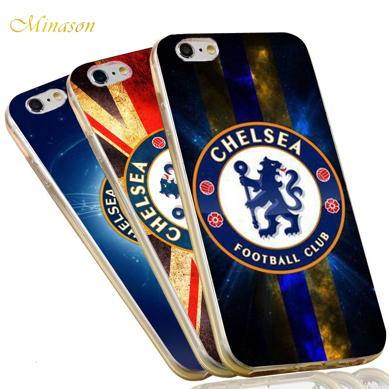Minason Soccer Chelseas FC Case for iPhone 6s Case Football Soft Silicone Cover for iPhone X 7 5 5S SE 6 8 plus Case Coque Funda
