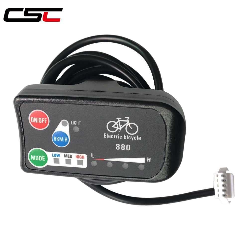 Детали для электровелосипеда 36 V 48 V KT светодиодный 880 аксессуары для электрического велосипеда панель управления электрический велосипедный дисплей для контроллер KT