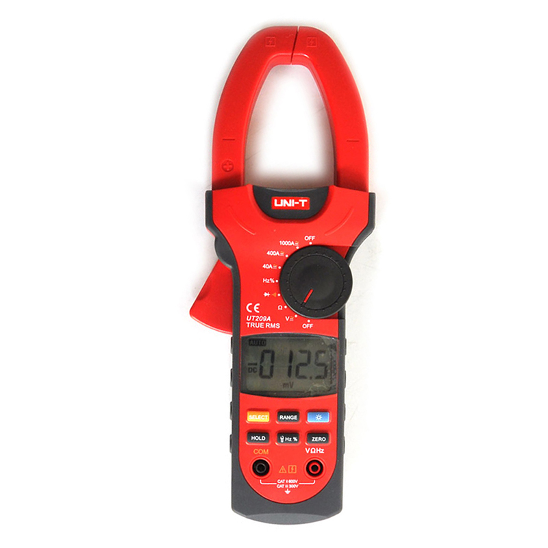 UT209A 3 3/4 Digital Auto Range Digital Clamp Multimeters 1000A 1000V True RMS Clamp Meter UNI-T Ammeter Voltmeter LCD Backlight  uni t ut209a true rms professional auto manual range 4000 counts 1000a digital clamp multimeters