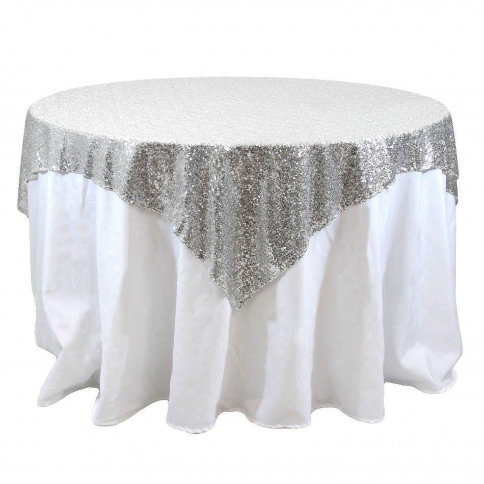 Popular Silver Tablecloth Overlay Buy Cheap Silver Tablecloth Overlay