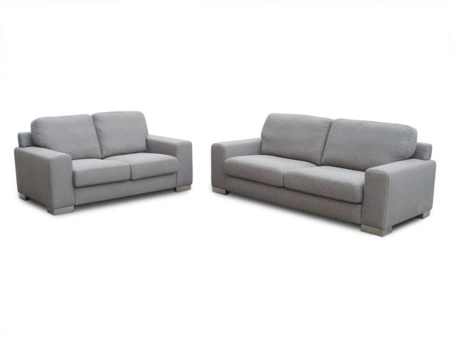 Modern Furniture Living Room Fabric Bond Leather Sofa 3 Seater 2