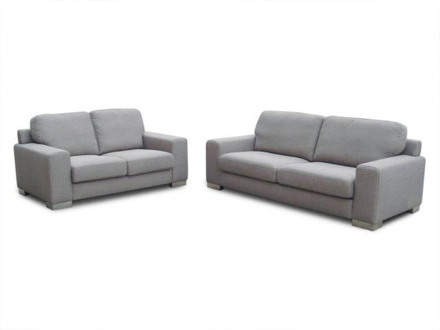 Modern Furniture / Living Room Fabric/ Bond Leather Sofa/ 3 Seater / 2  Seater / Lover Seater