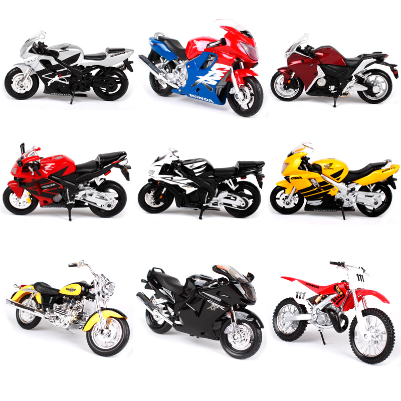 Maisto <font><b>1:18</b></font> Scale Motorcycle Toy Alloy Motorbike VFR CBR600RR CRF450R Collectible Model Toys <font><b>Cars</b></font> Gift image
