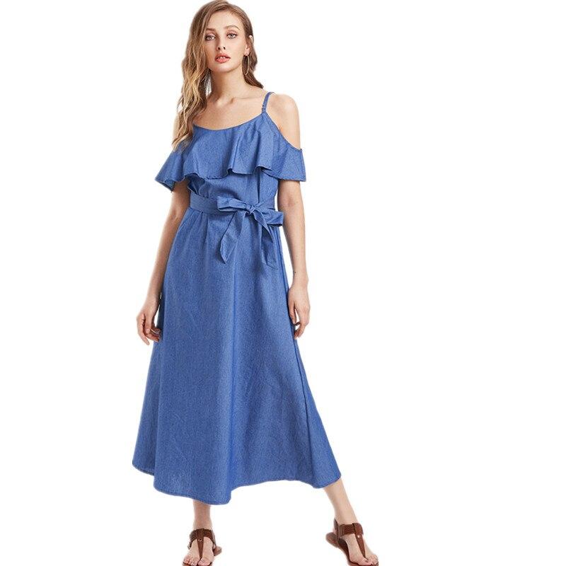 Джинсовые элегантные платья