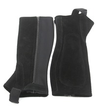 Horse Riding Chaps Half Chaps Suede Leather Equestrian Chaps Body Protector Equipment Genuine Suede Leather Chaps Horse Saddle