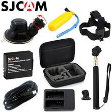 SJCAM SJ4000 Интимные аксессуары комплект палка для селфи монопод Батарея сбор сумка для SJ Cam SJ4000 Wi-Fi SJ5000 M10 действие Камера