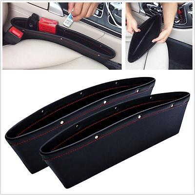 Car Seat Slit Pocket PU Leather Catcher Slim Storage Organizer Caddy Box In Boxes Bins From Home Garden On Aliexpress