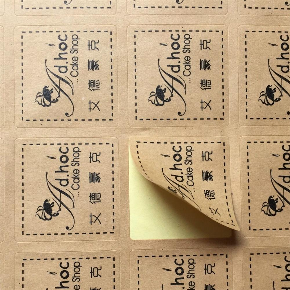 A4 label sheet  Kraft Paper Self-Adhesive Stickers for inkjet / Laser Printer /Copier, 50  Sheets, Matt Surface