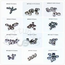 Miniature 10piece Bearings MR72 MR74 MR85 MR95-105-106-115-117-126-128-137-148 free shipping Metal Sealed chrome steel bearing
