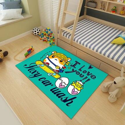 Cartoon chambre d'enfants tapis chambre pleine boutique mignon princesse chevet couverture hommes et femmes bébé ramper tapis