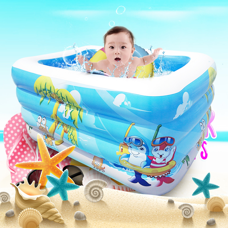 4 Size Inflatable Swimming Water Pool Portable Outdoor Children Bathtub  Game Playground Piscina Bebe Zwembad PVC