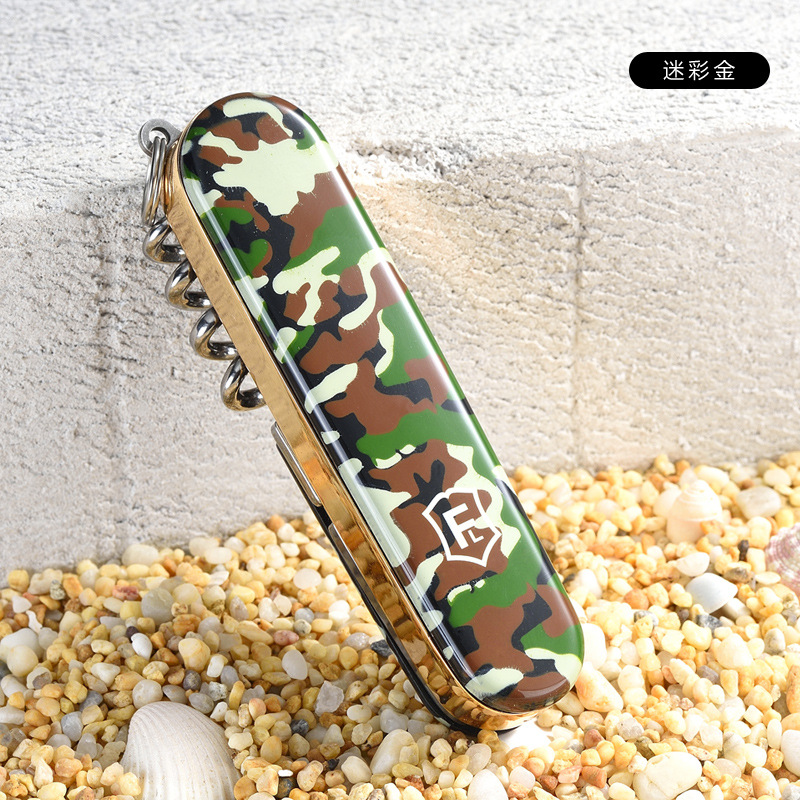 Image 2 - 5 In 1 Multifunction USB Lighter Saber Rechargeable Electronic Turbo Lighter Cigarette Swiss Army Knife Camping Tool Camouflage-in Cigarette Accessories from Home & Garden