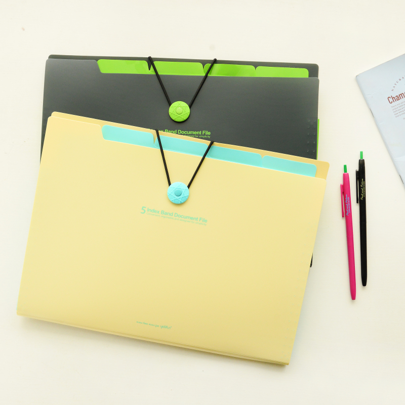 Brand New Waterproof Book A4 Paper File Folder Bag Accordion Style Design Document Rectangle Office Home School Color Random vividcraft business book a4 paper file folder bag office stationery design waterproof document folder rectangle office supplies