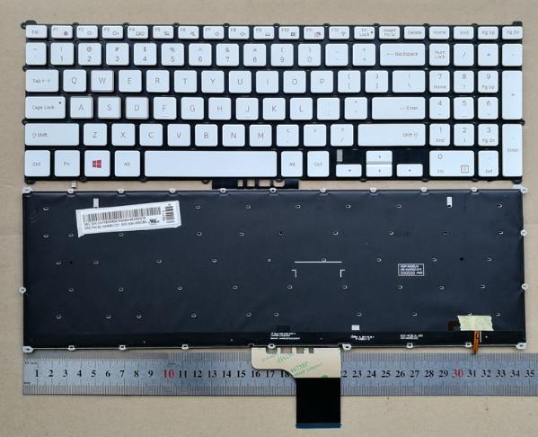 US backlit new laptop keyboard for Samsung  800G5M NP800G5M 8500GM english black/white