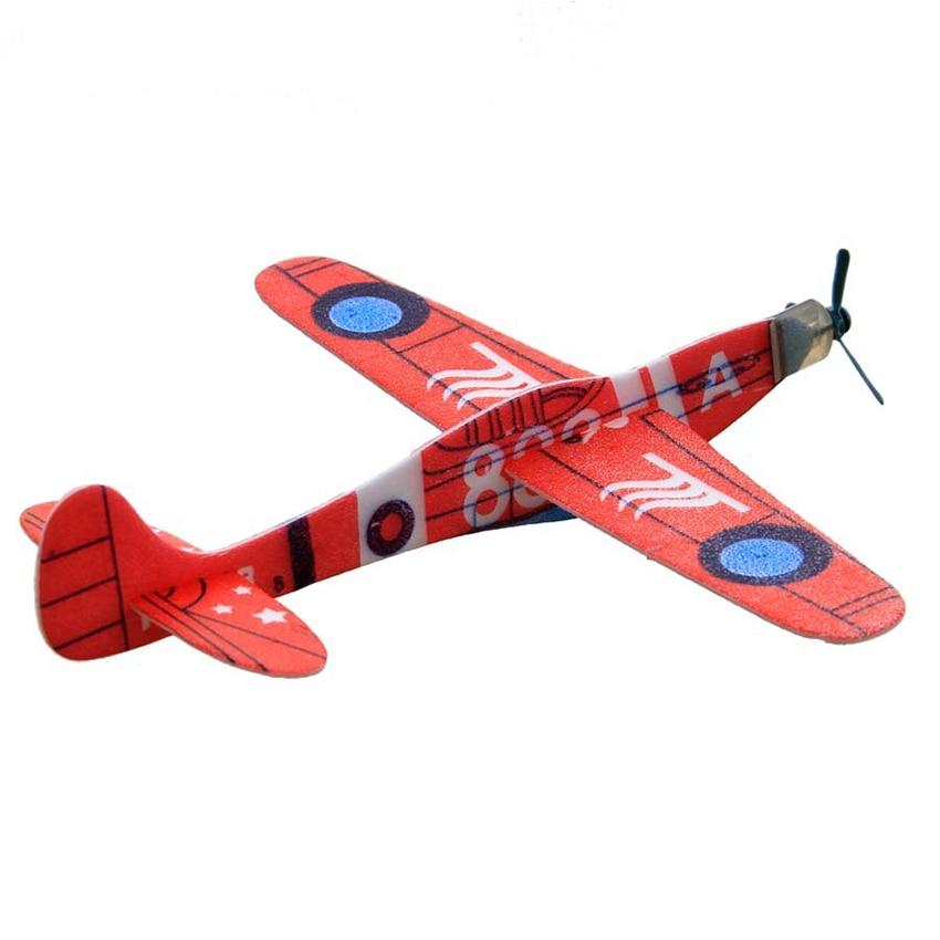 12 шт. пены eva самолет рука бросить 3D DIY Ассамблеи развивающие самолет Летающий планер модель самолета детская игрушка открытый игры