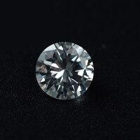 100pcs 8mm Round White Shiny Cubic Zirconia Crystal Glitter Rhinestones 3D Tiny Zircon Nail Art Diamond
