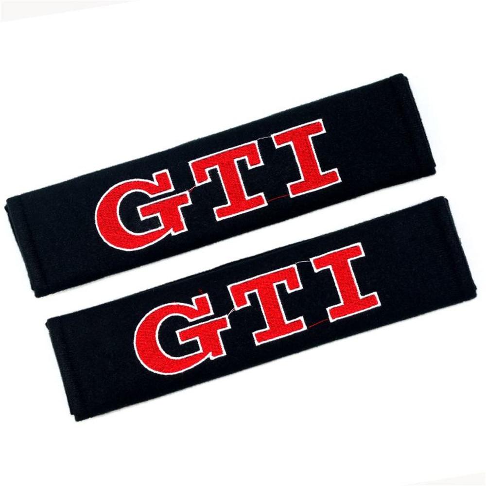 2PCs/ Set GTI Car Seat Belt Shoulder Strap Covers Universal Car Seat Belt Shoulder Pads Strap Harness Covers Cushions