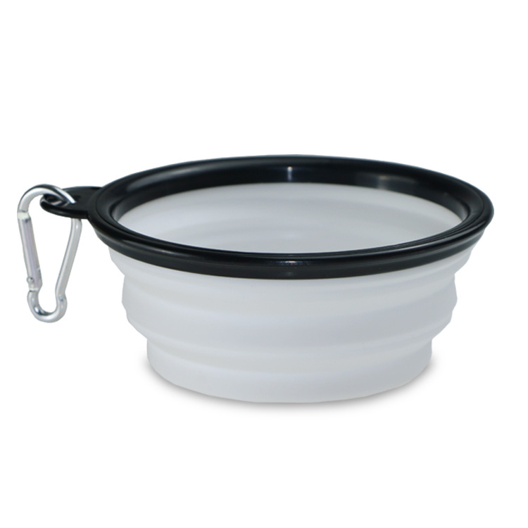 350ml/1000ml Portable Outdoor Travel Pet Dog Bowl Silicone Folding Bowls Food Drinking Water Pet Product Bowls With Buckle #4