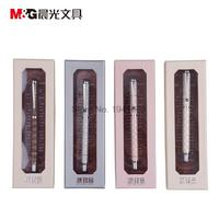 One Piece Gel Ink Pen 0 5 Tip M G AGPW1201 RollerBall Pen Metal PU Embossed