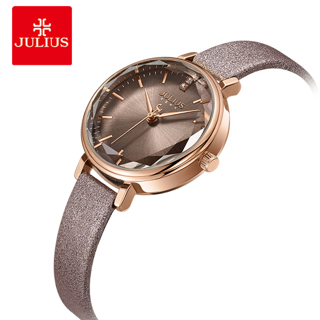 Julius Elegant Women Watch Fashion Dress Leather Bracelet Watches Casual Lady Qu