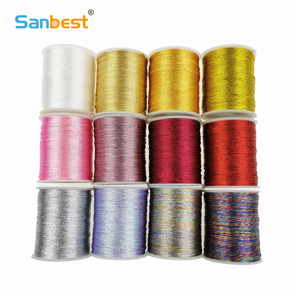 Sanbest 3 6 9 Strands Metallic Weaving Thread 3 Pcs/set Shiny Effect Jewellery DIY Crafts String Stitch Weave Threads TH00047