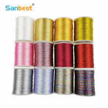 Sanbest 3 6 9 Strands Metallic Weaving Thread 3 pcs/set Shiny Effect Jewellery DIY Crafts String Stitch Weave Threads TH00047(China)