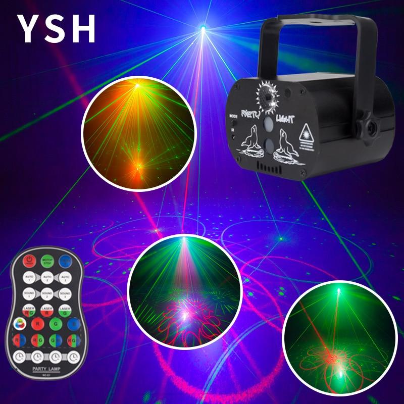 YSH DJ Disco Lighting Effect LED Party Lights Mini USB Laser Light Projector For Sale For Wedding Birthday