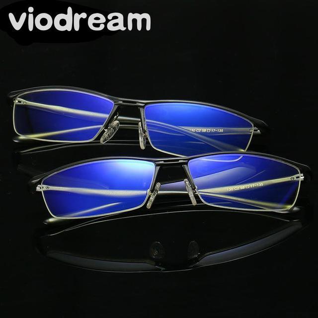 44359795582f Viodream Anti Blue Violet Light Computer goggles Men Half Frame Aluminium  Magnesium Alloy Optical Glasses Frames Eyewear glass