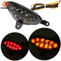 POSSBAY Motorcycle Lights Led Tail Lamp 12V Waterproof Integrated Rear Tail Light Turn Signals For KTM