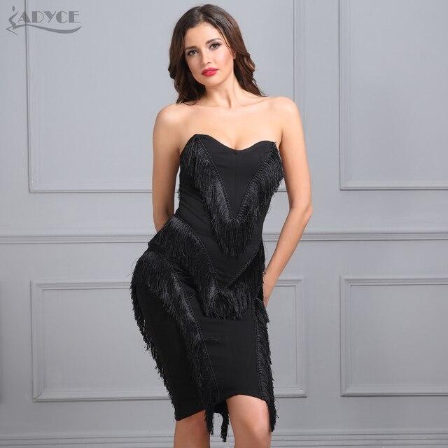 Adyce 2018 New Summer Celebrity Evening Party Dress Women Black