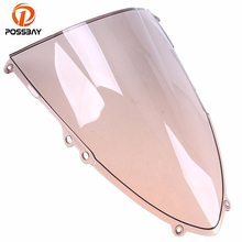 POSSBAY ABS Motorcycle Double Bubble Windscreen for Ducati 1199 1199R 1199S Panigale 2012-2013 Scooter Windshield Shield Screen