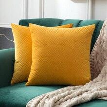 Бархатные наволочки декоративные прямоугольные узоры мягкий чехол мягкий розовый наволочки для автомобиля диван спальня