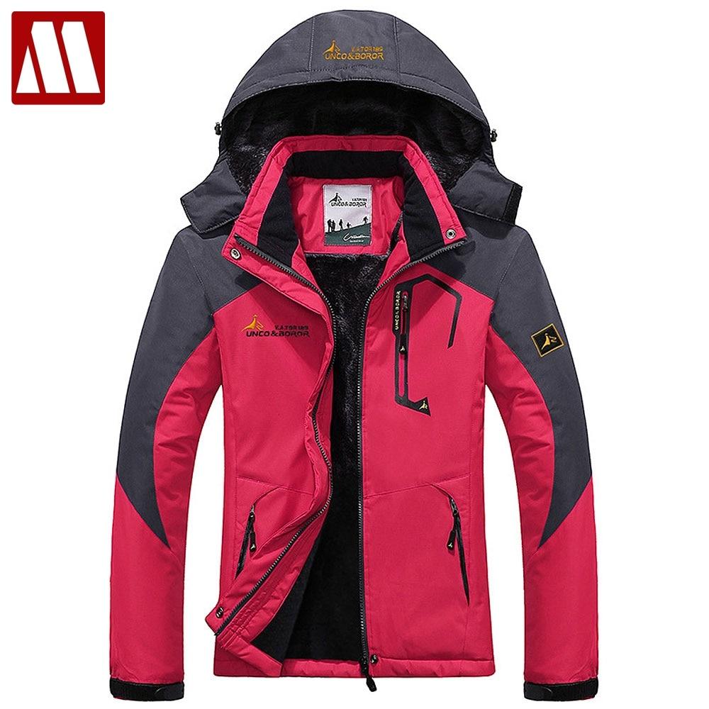Ski Jacket Women Waterproof Fleece Snow Jackets Thermal Coat For Outdoor Lady Mountain Skiing Snowboard Overcoat