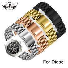купить Stainless Steel Watch Band for Diesel 20 22 24 26mm Men Women Metal Strap Belt Wrist Loop Bracelet Black + Spring Bar + Tool по цене 1164.55 рублей