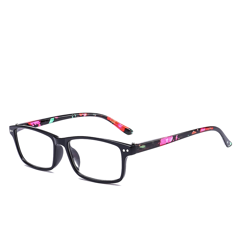 JN IMPRESSION Fashionable retro plastic reflector reading glasses women light weight the original brand ultra long flower T18148 ...