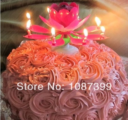 Music Birthday Candle With Auto Open Moving Double Flower For Party Home Bar Decoration In Candles From Garden On Aliexpress