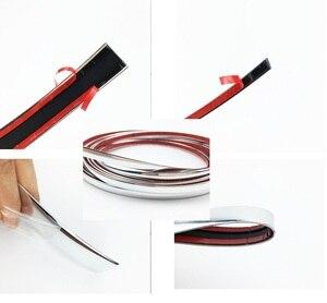 Image 2 - Car Chrome Decor Strip Sticker Silver Auto Styling Trim Strip Interior Exterior Decoration 6mm/8mm/10mm/15mm/20mm/22mm/25mm/30mm