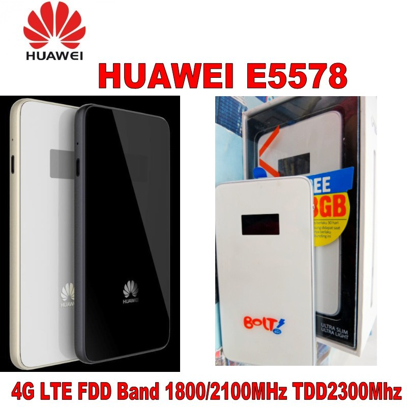 UNLOCKED HUAWEI E5578 LTE FDD/TDD Mobile Broadband Devices 4G 150Mbps WiFi Modem original unlocked huawei e3372 m150 2 lte fdd 150mbps 4g lte modem support lte fdd 800 900 1800 2100 4g crc9 49dbi dual antenna