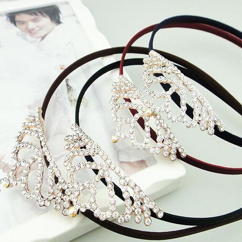 Kawaii Mariposas Exquisitas MUJERES Accesorios Para el Cabello de La Princesa Tiaras Coronas Diadema hairband de