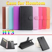 Личи бумажник case для homtom ht3 case роскошный кожаный 5.0 «защитные Поперечная Откидная Крышка Для Homtom 3 Телефон Жилья