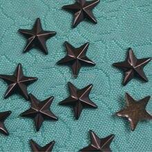 Заклепки в виде звезд 200 шт Черные Аксессуары для рукоделия исправление DIY железо на заклепках 10 мм