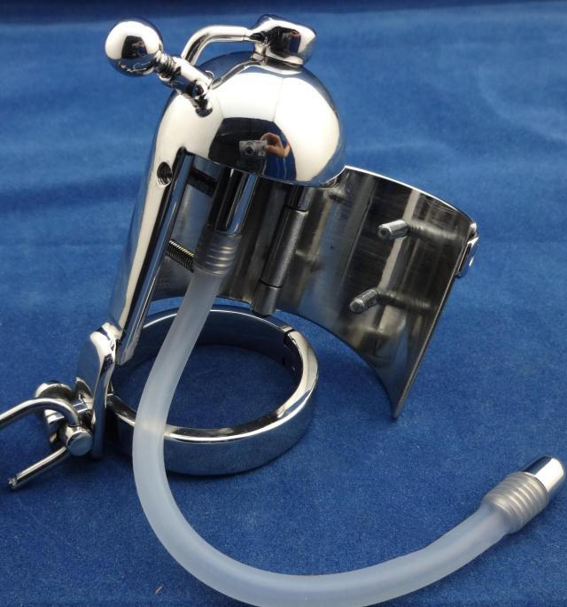 2017 Newest male extrusion chastity device lock penis cage with urethral sound catheter cock cages mens dick bondage cbt toys metal cock ring cage male chastity catheter cbt device cb6000s sex toys for men on the penis cages bird lock bondage products