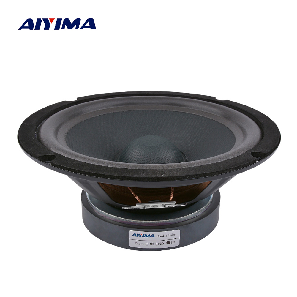 AIYIMA 1Pc 8 Inch Audio Sound Speaker 120 Magnetic Woofer LoudSpeaker 8 Ohm 300 W Bass Speakers For Home Theater Sound SystemAIYIMA 1Pc 8 Inch Audio Sound Speaker 120 Magnetic Woofer LoudSpeaker 8 Ohm 300 W Bass Speakers For Home Theater Sound System