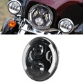 "7"" Round Projector Daymaker HID Hi/Lo LED Headlight For Harley-Davidson Road King FLHX Jeep Wrangler"