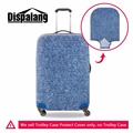 Dispalang denim blue waterproof luggage cover suitcase protective cover for 18-30 inch trolley case elastic dustproof cover