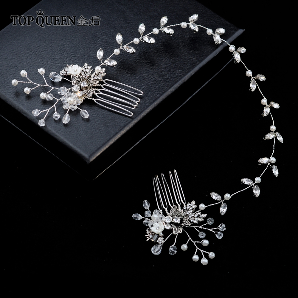 TOPQUEEN HP26 Bridal Hair Comb Wedding Tiara Wedding Combs Wedding Headwear Bridal Headpiece Wedding Hair Accessories