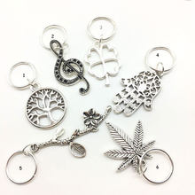 Silver Hair Accessaries Beads 5Pcs per Set Per Lot Silver Hair Braid Dreadlock Bead Leaf 14mm Hole Hair Cuffs Dread Tube Charm(China)