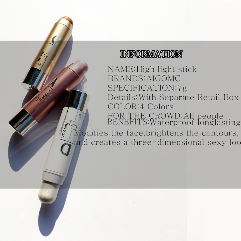 Women Highlight Contour Stick Beauty Makeup Face Powder Cream Shimmer Concealer professional corrective maquiagem Newest