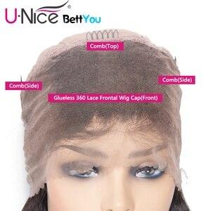 """Image 5 - Unice שיער 360 תחרה פרונטאלית פאה ברזילאי רמי גוף גל פאות 10 26 """"שיער טבעי פאות לנשים שחורות מראש קטף עם תינוק שיער"""