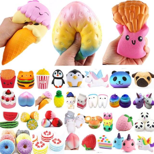 Jumbo замедлить рост Squishies Ароматические мороженое Кофе чашка клубники мягкими Squeeze Игрушка снятие стресса подарок мобильный телефон ремни